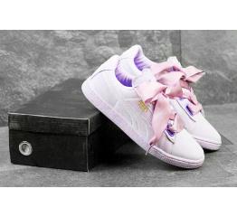 Купить Жіночі кросівки Puma Suede Heart Reset бузкові в Украине