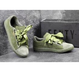 Купить Женские кроссовки Puma Suede Heart Reset зеленые в Украине