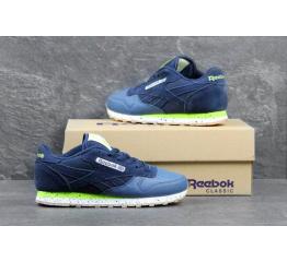 Купить Женские кроссовки Reebok Classic Leather темно-синие