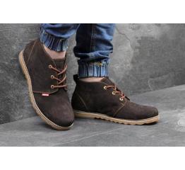 Мужские ботинки Levi's Chukka Boot зимние коричневые