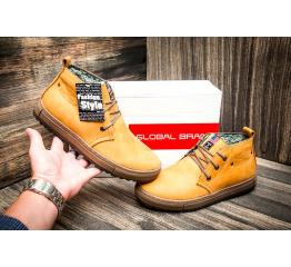 Мужские ботинки Montana горчичные синие