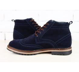Мужские ботинки Tommy Hilfiger зимние темно-синие