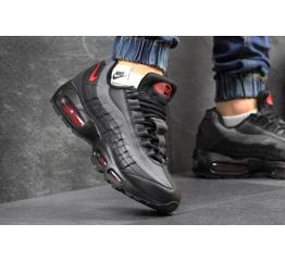 Купить Мужские кроссовки Nike Air Max 95 черные с серым в Украине