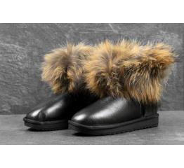 Купить Жіночі чоботи угги с меховой опушкой чорні