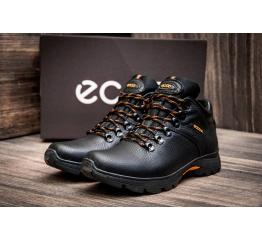 Мужские ботинки Ecco зимние черные