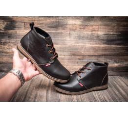 Мужские ботинки Levi's Chukka Boot зимние темно-коричневые
