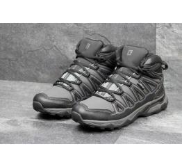 Купить Чоловічі черевики Salomon X Ultra Mid 2 GTX сірі з чорним в Украине