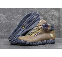 Мужские ботинки Tommy Hilfiger зимние коричневые