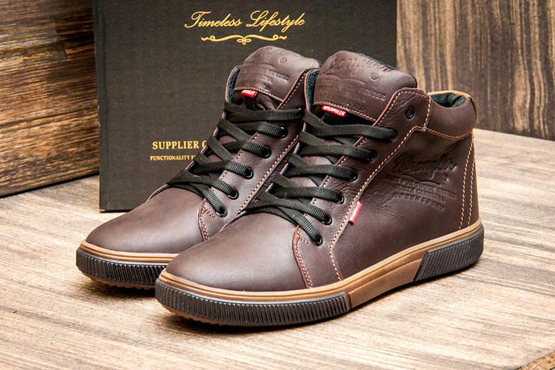 dfe2fe35e Мужские ботинки Wrangler зимние коричневые