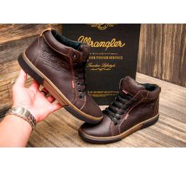 Мужские ботинки Wrangler зимние коричневые