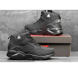 Купить Чоловічі високі кросівки зимові Nike Air Huarache ACG чорні