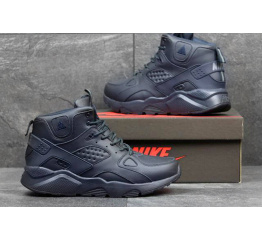 Купить Чоловічі високі кросівки зимові Nike Air Huarache ACG темно-сині