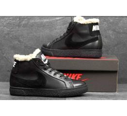 Купить Мужские высокие кроссовки на меху Nike Blazer Mid черные