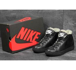 Купить Мужские высокие кроссовки на меху Nike Blazer Mid черные в Украине