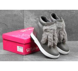 Женские ботинки серые