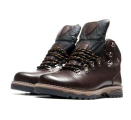 Мужские ботинки Ecco темно-коричневые с черным
