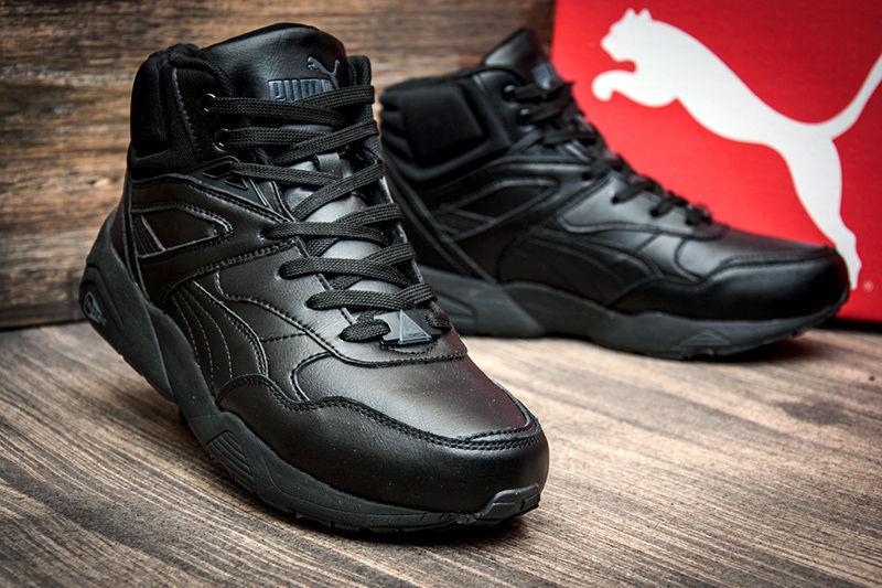 0e1fee456 Мужские высокие зимние кроссовки на меху Puma Trinomic R698 Winter  High-Tops черные