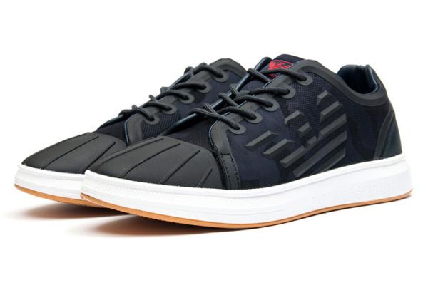 Мужские кроссовки Giorgio Armani темно-синие с белым