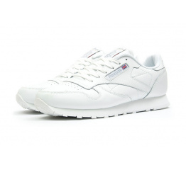 Купить Мужские кроссовки Reebok Classic Leather белые (white)