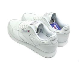 Купить Мужские кроссовки Reebok Classic Leather белые (white) в Украине