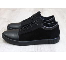 Купить Чоловічі туфлі снікери чорні