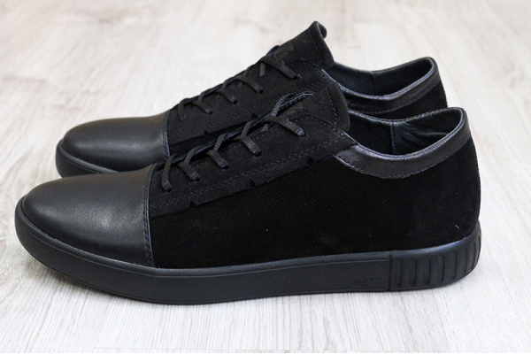 Мужские туфли сникеры черные