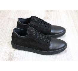 Купить Мужские туфли сникеры черные в Украине