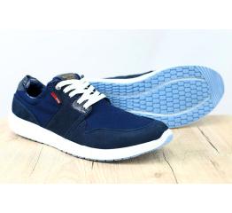 Купить Чоловічі туфлі снікери темно-сині в Украине