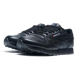 Купить Мужские кроссовки Reebok Classic Leather черные