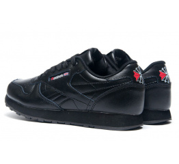 Купить Мужские кроссовки Reebok Classic Leather черные в Украине