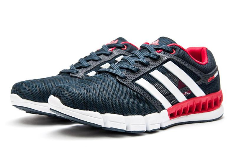 786a2f58 Мужские кроссовки Adidas Climacool Revolution темно-синие с белым и красным