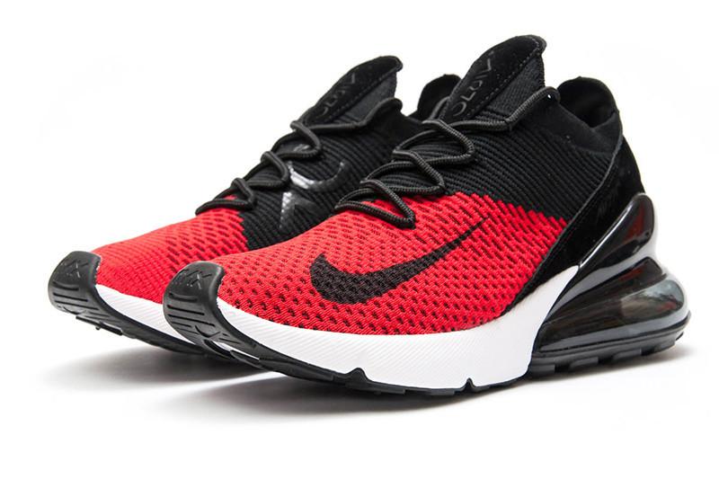 Nike Air Max 270 Flyknit красные с черным купить | ASPOLO