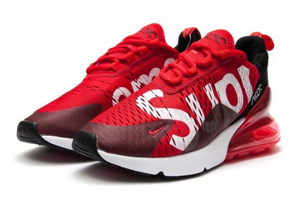 30c13030 Мужские кроссовки Nike Air Max 270 Supreme красные с белым