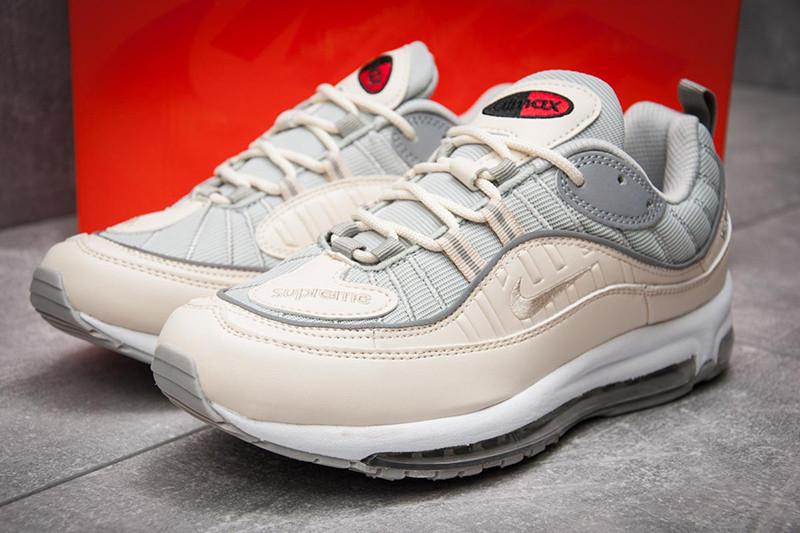 ef658b5f Мужские кроссовки Nike Air Max 98 x Supreme бежевые с серым