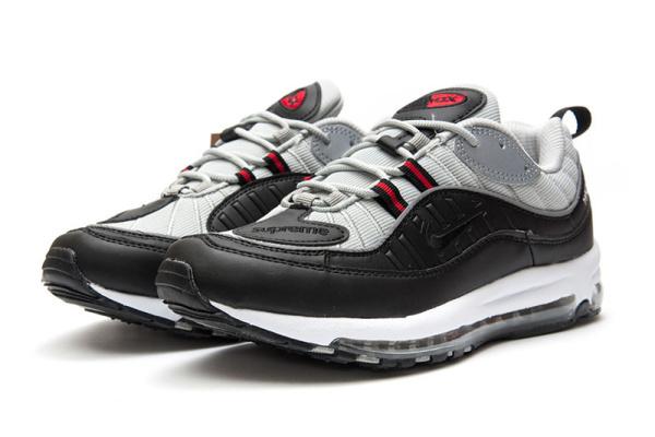 03d3e9c8 Мужские кроссовки Nike Air Max 98 x Supreme серые с черным
