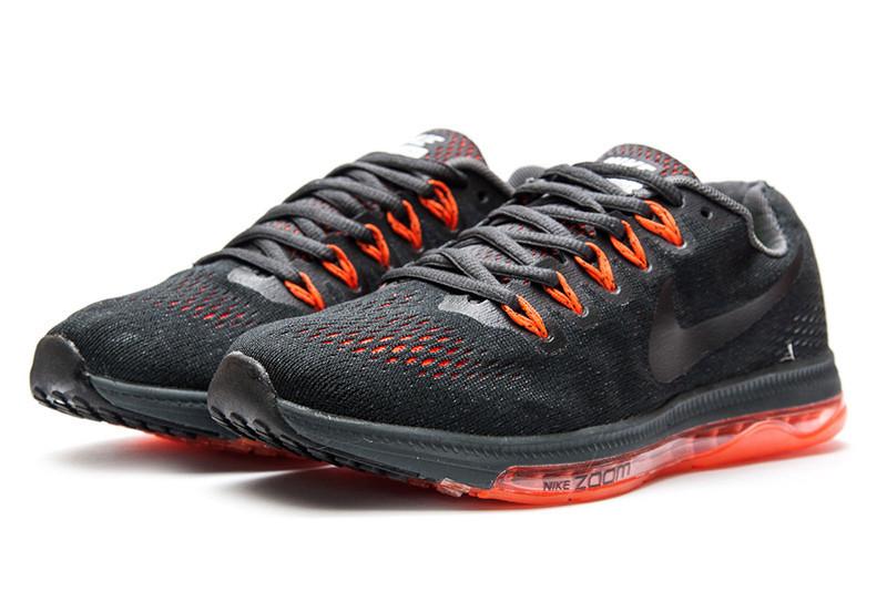 54caa987 Мужские кроссовки Nike Zoom All Out Low черные с оранжевым