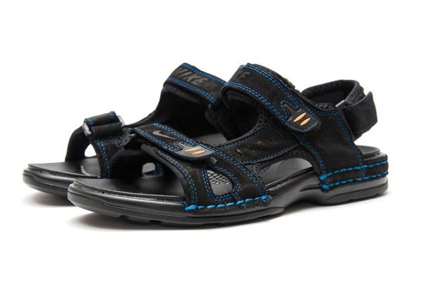Мужские сандалии Nike черные с голубым