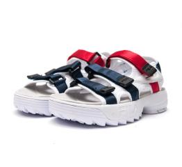 Женские сандалии Fila Disruptor SD белые с синим и красным