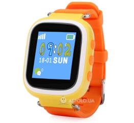 Купить Дитячий смарт-годинник з GPS трекером SmartWatch Q80 Orange