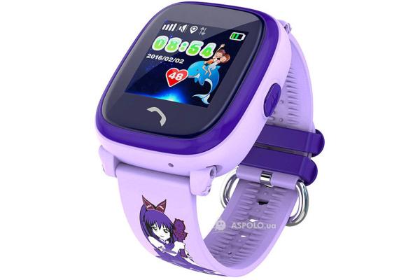 Детские смарт часы Smart Baby Watch Q300s purple