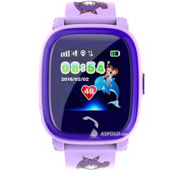 Купить Дитячий смарт-годинник з GPS трекером SmartWatch DF25 GPS pink в Украине