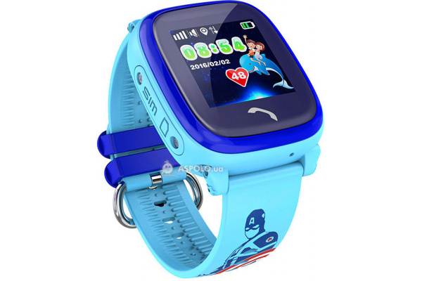 Детские смарт часы DF25 Kids waterproof smart watch Blue