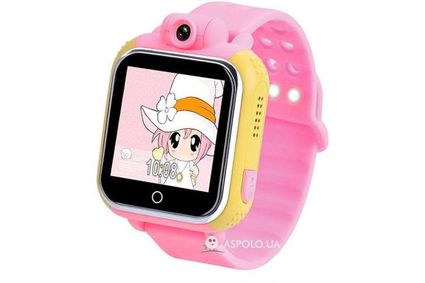 Детские смарт часы с GPS трекером и HD-камерой Smart Watch SW16 pink