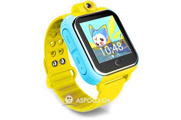 Детские смарт часы с GPS трекером и HD-камерой Smart Watch SW16 yellow