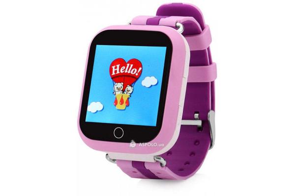 Детские смарт часы с GPS трекером SmartWatch Q100S GPS pink