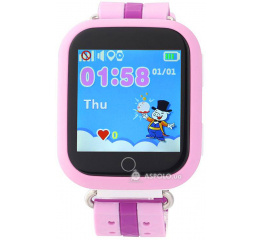Детские смарт часы SmartWatch TD-02 (Q100) GPS-Tracking Wifi Watch Pink