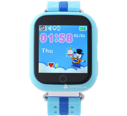 Детские смарт часы SmartWatch TD-02 (Q100) GPS-Tracking Wifi Watch Blue