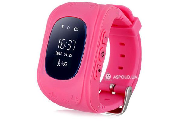 Детские смарт часы с GPS трекером KIDS GO (Pink)