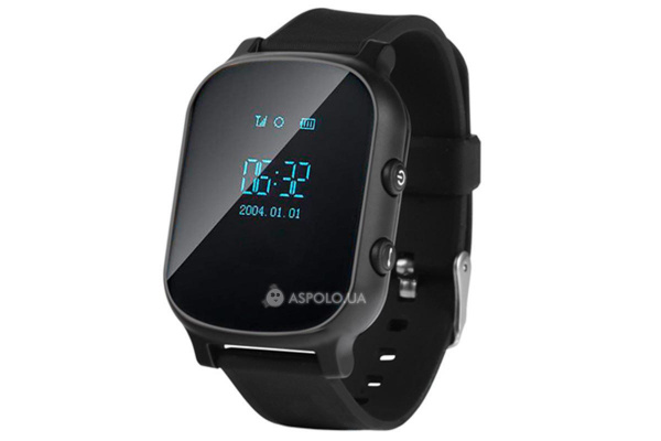 Детские часы-телефон с GPS трекером Smart Watch TW58 black