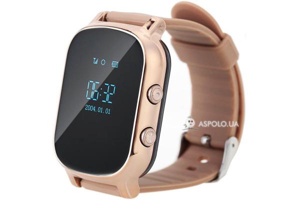 Детские смарт часы с GPS трекером Smart Watch TW58 gold